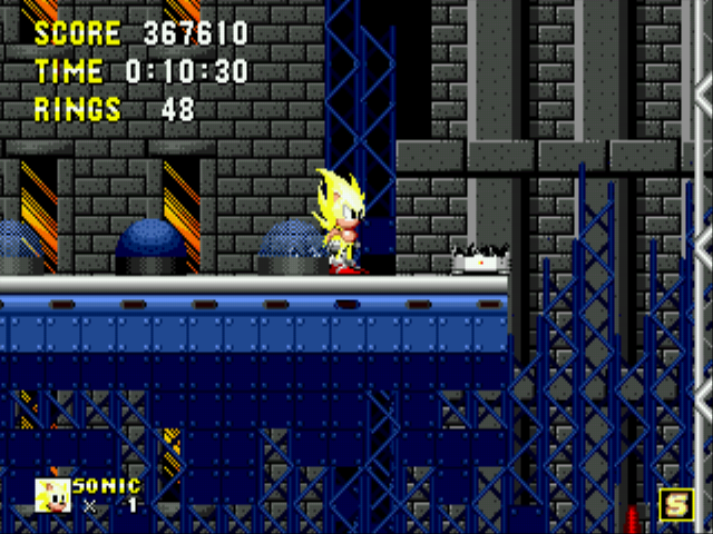 Sonic 1 Megamix (v3.0) - My favorite Super Sonic. :D - User Screenshot